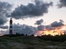 Amrumer Leuchtturm bei Sonnenuntergang