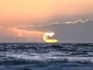 Sonnenuntergang vor der Küste